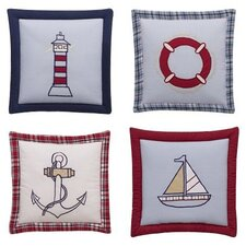 Boys Stripes and Plaids 4 Piece Wall Hangings