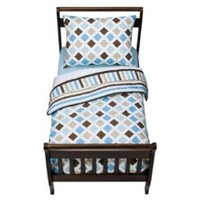 Mod Diamonds and Stripes Toddler Bedding Set