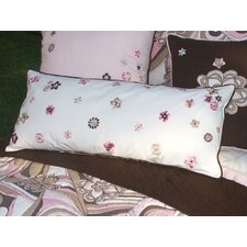 Retro Flowers Lumbar Pillow