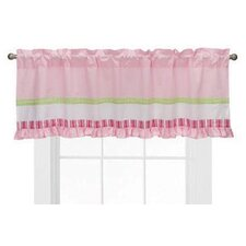 Girls Stripes and Plaids Cotton Blend Rod Pocket Ruffled Curtain Valance