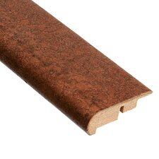 "0.63"" x 2.19"" Lisbon Stair Nose Molding in Mocha"