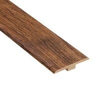 "0.25"" x 1.44"" Laminate T-Molding in Palace Oak Dark"