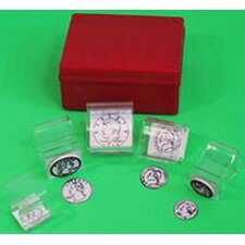 Coin Stamps Heads 5 Piece Set