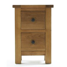 Eden 2 Drawer Bedside Table