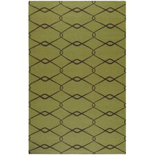 Fallon Lime Green/Chocolate Rug