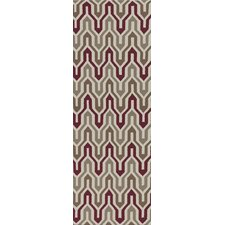 Fallon Driftwood Brown/Maroon Rug