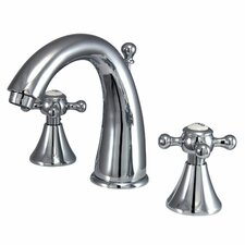 Widespread Bathroom Faucet with Double Cross Handles