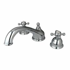 Double Handle Deck Mount Roman Tub Faucet Trim Buckingham Cross Handle