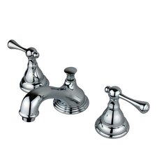 Widespread Bathroom Faucet with Double Buckingham Lever Handles