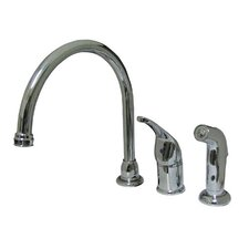 Single Handle Widespread Kitchen Faucet with Lever Handle and Side Spray