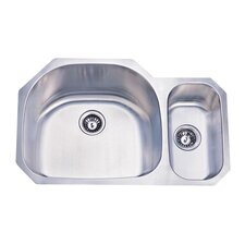 "31.5"" x 20.69"" Double Bowl Undermount Kitchen Sink"