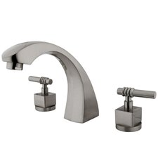 Double Handle Deck Mount Roman Tub Faucet Trim Fortress Lever Handle