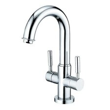 Nuvo Single Hole Bathroom Faucet with Double Metal Cross Handles