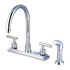 Tampa Two Handle Centerset Kitchen Sink Faucet with Plastic Sprayer