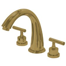 Manhattan Double Handle Deck Mount Widespread Roman Tub Filler