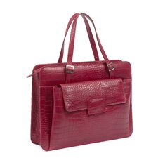 Chantilly Crocodile Embossed Leather Briefcase