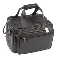"Dual Pistol 15"" Leather Duffel"