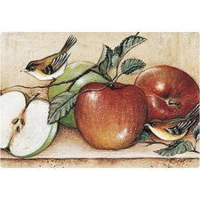 "9.5"" x 12.5"" Apples and Warblers Design Cutting Board"