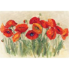 "7.5"" x 11"" Vibrant Poppies Design Cutting Board"