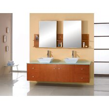 "Clarissa 72"" Double Sink Bathroom Vanity Set"