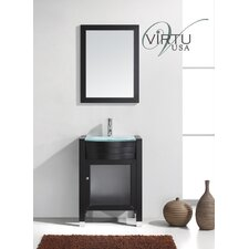 "Ultra Modern 23.6"" Ava Single Bathroom Vanity Set"