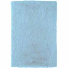 Faux Sheepskin Blue Rug