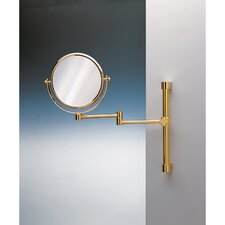 "11.8"" Extendable Double Face Wall Mounted 7X Magnifying Mirror with One Arm and One Brazo"