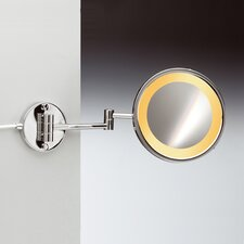 "8"" Incandescent Light 5X Magnifying Mirror with Two Arm Direct Wired"