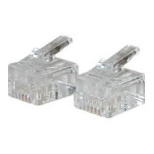 RJ11 Solid Cable Modular Plug (Set of 25)