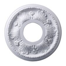 "11.2"" Acanthus Medallion in White"