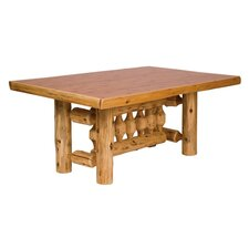 Traditional Cedar Log 5 Piece Dining Set