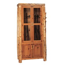 Traditional Cedar Log Gun Cabinet