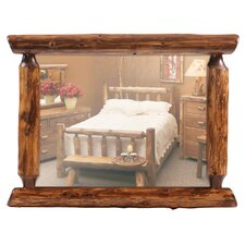 "Traditional Cedar 32"" Log Mirror in Vintage Finish"