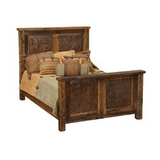 Barnwood Inset Panel Bed