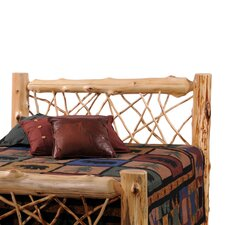 Traditional Cedar Log Headboard