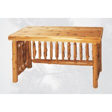 Traditional Cedar Log Writing Desk