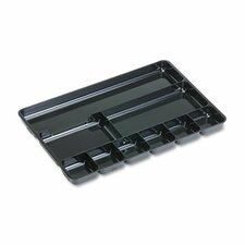 Regeneration 9-Section Drwr Organizer, Plastic, Black