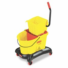 Commercial Wavebrake 35-qt. Dual Water Side Press Mop Bucket and Wringer