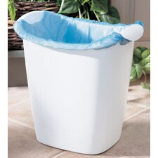 14 Quart White Recycle Bag Wastebasket