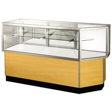 "Streamline 38"" x 80"" Half Vision Corner Combination Showcase with Panel Back"