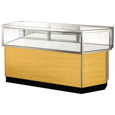 "Streamline 38"" x 68"" Jewelry Vision Corner Combination Showcase with Mirror Back"