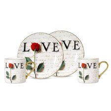 Love Letters 3 oz. Espresso Cup and Saucer