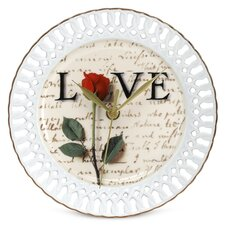 Love Letters Porcelain Wall Clock