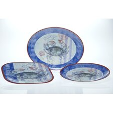 Blue Crab and Lobster by Geoff Allen 3-Piece Serving Set