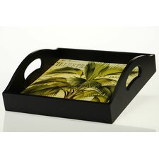 "Las Palmas 12.75"" 4-Tile Square Tray"