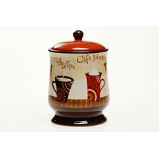 "Cup Of Joe 9.75"" Biscuit Jar"