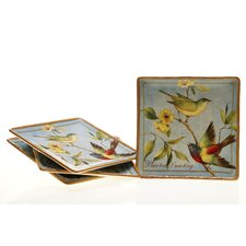 "Botanical Birds 10.5"" Dinner Plate (Set of 4)"