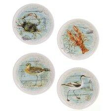 Beach Cottage 8.75' Dessert Plate (Set of 4)