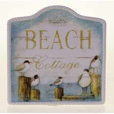 "Beach Cottage 12.75"" Platter"