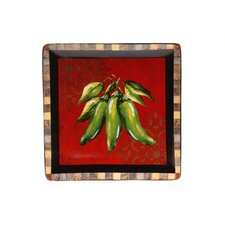 "Chili Pepper 12.25"" Square Platter"
